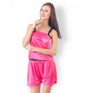 Fasense Pink Playsuit Nightdress