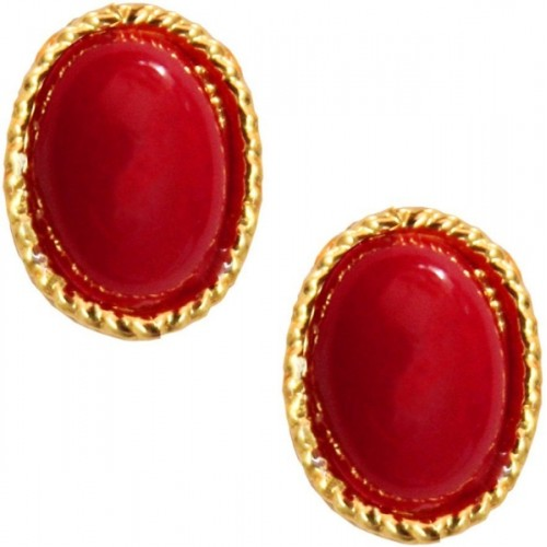 Being Women Elegant Gold Plated With Stone Studded Fashion Alloy Stud Earring