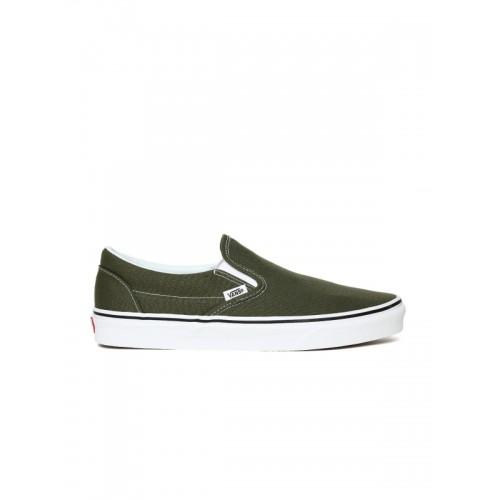 olive green vans low top