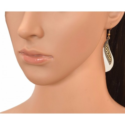 Efulgenz Trendy Sparkle Alloy Dangle Earring