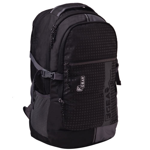F Gear Blow Laptop Backpack With Rain Cover Grey & Black Backpack