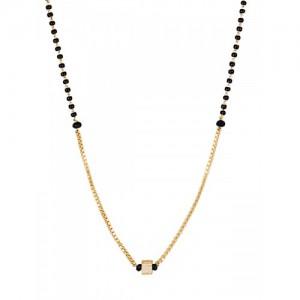 Sia Art Jewellery Gold-Toned & Black Beaded Magalsutra