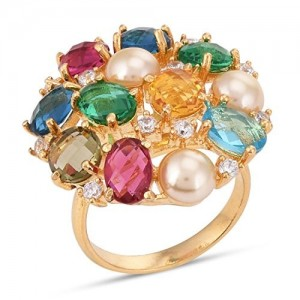 Tistabene Retails Multi Colored Stones Cocktail Ring for Women