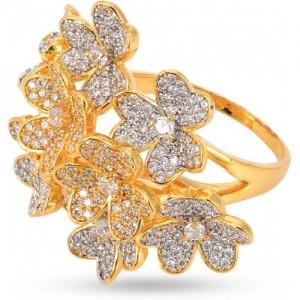 Devanjali Floral Designer Cocktail Ring for Women