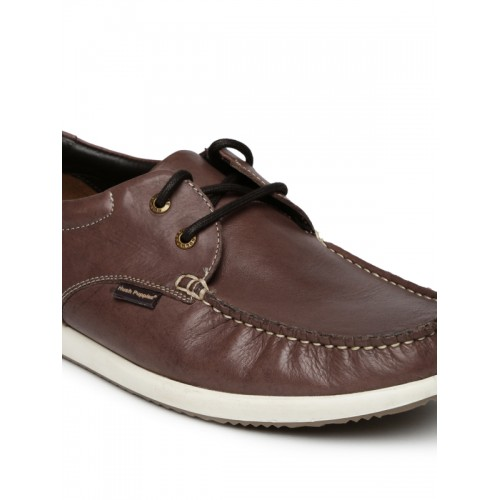 Bata Men Brown Leather Casual Shoes