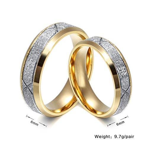 Moneekar Jewels Stainless Steel Band Couples Ring