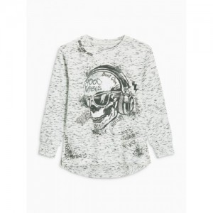 next Boys Grey Printed Round Neck T-shirt