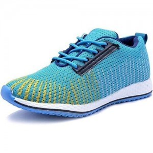 Deals4you Blue Mesh Lace Up Running Sports Shoes