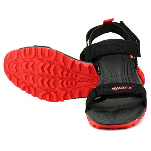 Sparx  SM-468 Black Eva Velcro Sandals
