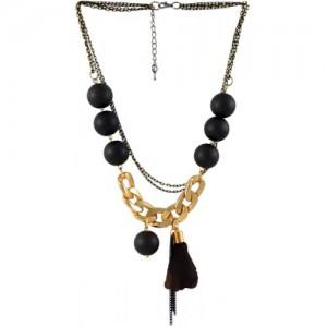 Sarah Gold & Black Metal Choker Necklace