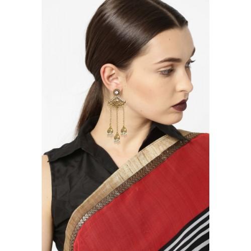 Zaveri Pearls Jhumki Drop Zinc Dangle Earring