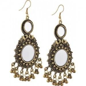 31c4f7351 Zephyrr Fashion German Silver Hanging Hook Dangle Earrings with Mirrors  Alloy Dangle Earring