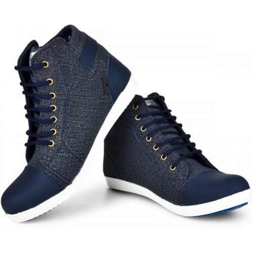 Essence Blue Trendy Boots For Men
