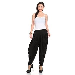 Legis Black Lycra Dhoti for Women