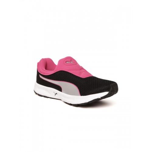Buy Puma Women Black   Pink Burst Slipon IDP Running Shoes online ... e5031b110
