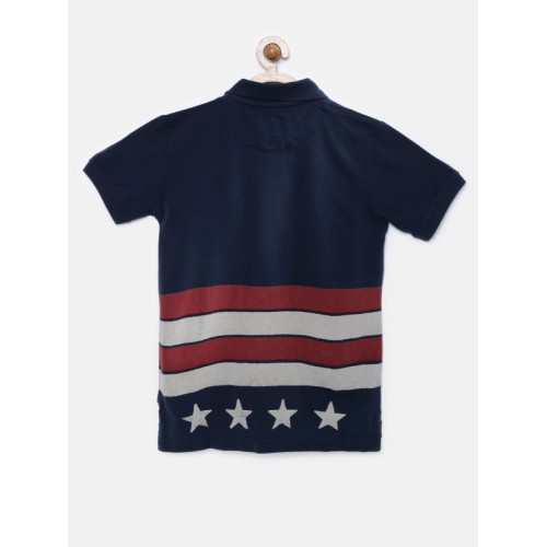 U.S. Polo Assn. Kids Boys Navy Polo T-shirt