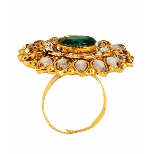 Diva Style Me Green White Alloy Ring For Women