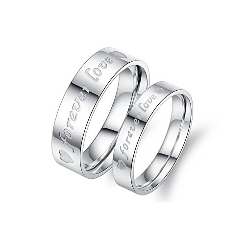 Asma Jewel House Stainless Steel Couple Ring For Men And Women