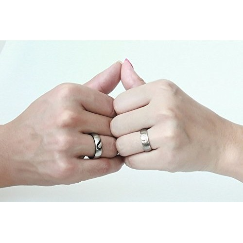 Asma Jewel House Stainless Steel Couple Ring