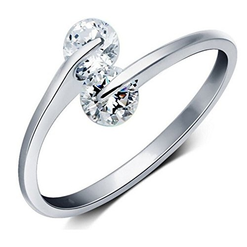 Karatcart Platinum Plated Austrian Crystal Ring For Women