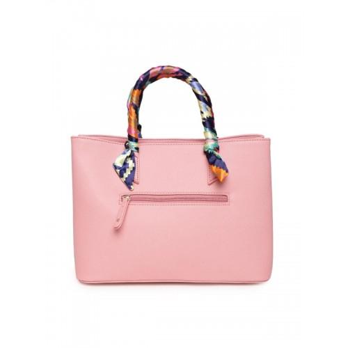 Caprese Joleen Pink Faux Leather Satchel Handbag
