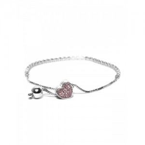 Jewels Galaxy Silver-Toned Rhodium-Plated Handcrafted Bracelet