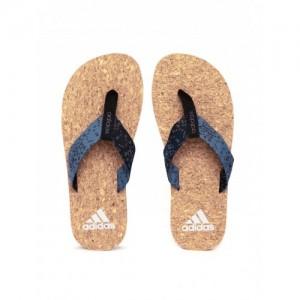 Adidas Beach Cork Thong 2017 Blue Flip Flops
