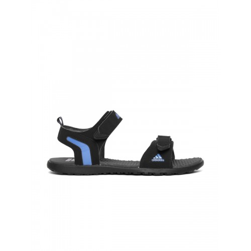 99d4fd1e58bef2 Buy Adidas Men Black Mobe Sports Sandals online