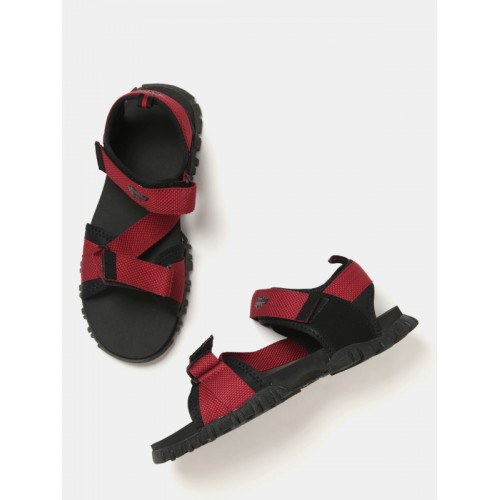 9e4adbd52 Buy Roadster Men Red   Black Sports Sandals online
