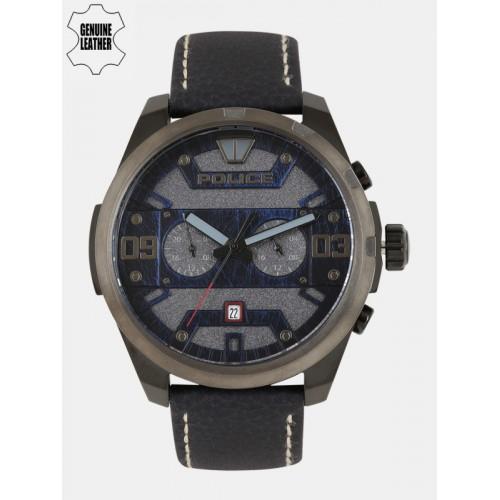 e1365fca840 Buy Police Men Grey   Navy Analogue Watch PL15365JSBU61 BBD ...