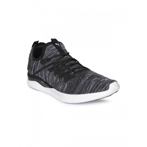 10fe36fb4cb Buy Puma Ignite Flash Evoknit Black Running Shoes online
