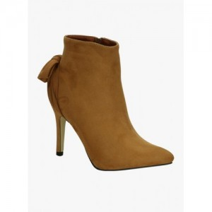 Get Glamr Tan Synthetic Boots