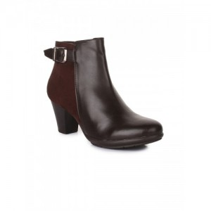 Bruno Manetti Women Coffee Brown Solid Heeled Boots