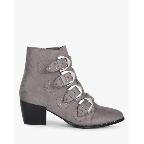 Truffle collection Ankle-Length Dome-Studded Boots