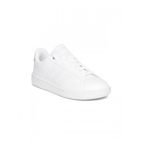 size 40 efa47 870e6 ... Adidas Women White CF Advantage CL Tennis Shoes ...