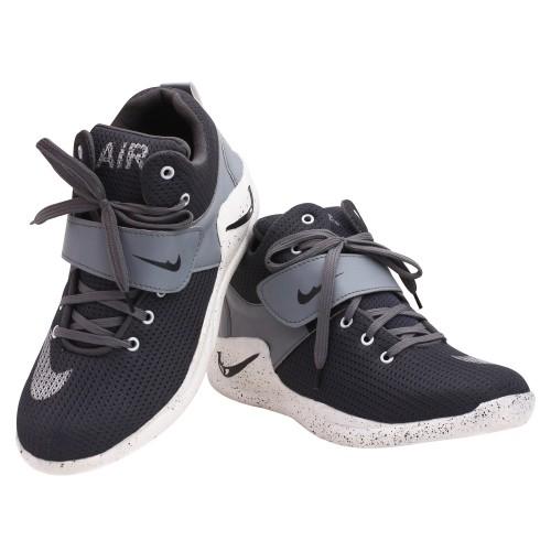 Butchi Men's Gray  Lace-up  Smart Sport Shoes