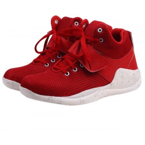 Butchi Butchi Men,s Red Mesh Sport Shoes Running Shoes For Men
