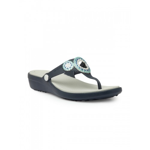 6bd1154d8 Buy Crocs Sanrah Diamante Navy Blue Sandals online