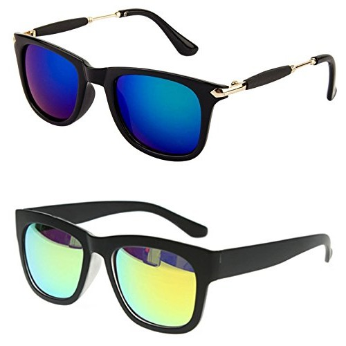 82786a9f10 ... Younky Unisex Combo offer Pack of UV Protected Stylish Wayfarer  Sunglasses For Men   Women ...