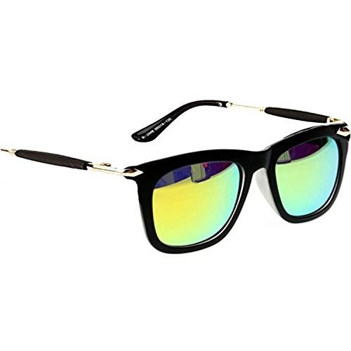 Younky Uv Protected Wayfarer Men's, Women's, Boy's, Girl's Sunglasses - (Silver-Stick-Green-Mercury-Wayfarer 55 Green)