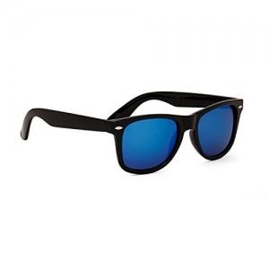 Dervin Black Frame Blue Shade Wayfarer Sunglasses for Men & Women