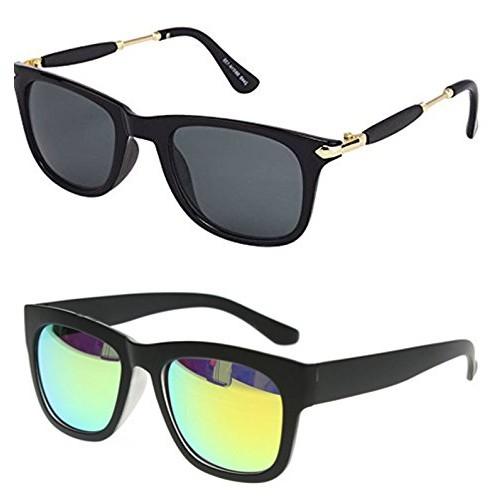 c8496f9f348 ... Younky Unisex Combo offer Pack of UV Protected Stylish Wayfarer  Sunglasses For Men   Women ...