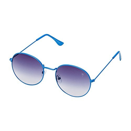 f7221202174 ... Vast Round Metal Gradient Blue UV Protection Sunglasses For Men And  Women (3447C10BB) ...