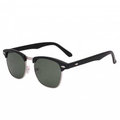 Royal Son Black UV Protection Clubmaster Sunglasses