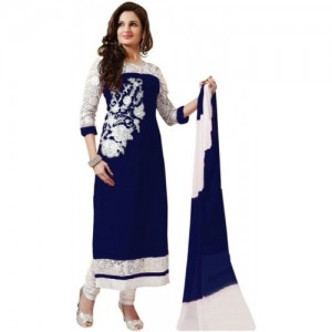Darshita Navy Blue Georgette Embroidered Salwar Suit