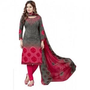 Jevi Prints Multi Color Crepe Printed Salwar Suit