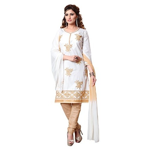 c1df78141e Women's Cotton Embroidered Unstitched Salwar Suit -  rbmm_nakashi5_02_White_Free ...