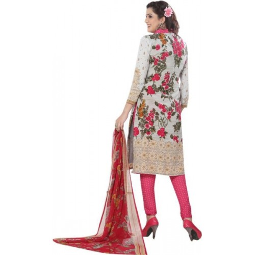 Shoppee Synthetic Floral Print Salwar Suit Dupatta Material