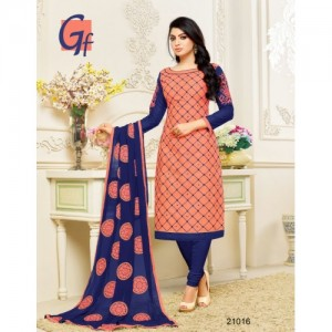 Pisara Cotton Embroidered Salwar Suit Dupatta Material