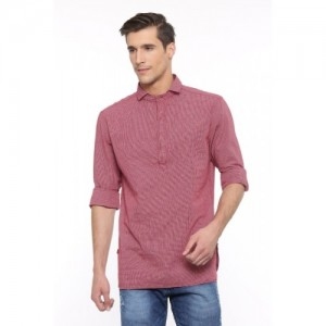 Showoff Men's Checkered Casual Red Shirt